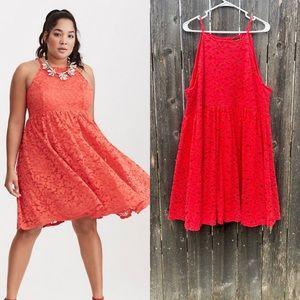 Torrid Lace High Neck Skater Dress